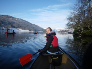 Winter Canoeing on Windermere