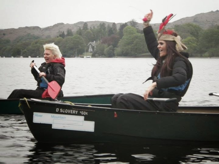Hen do canoeing in the Lake District