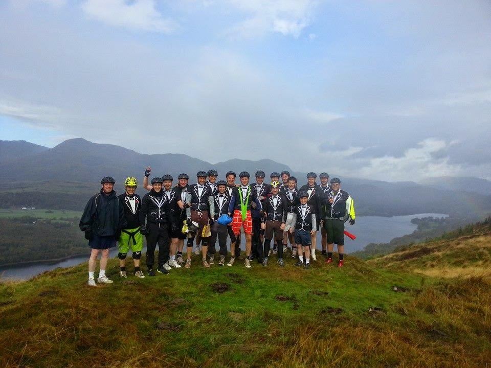 Stag do mountain biking in the Lake District